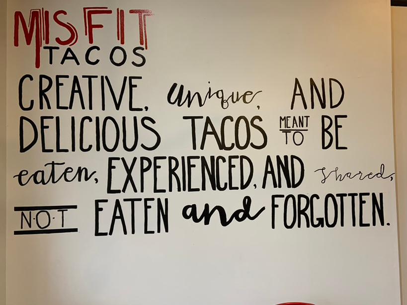 Misfit Tacos Slogan